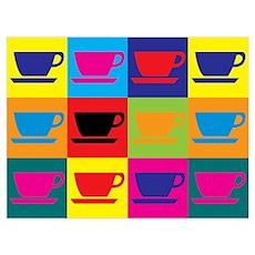 Coffee Pop Art Wall Art Poster