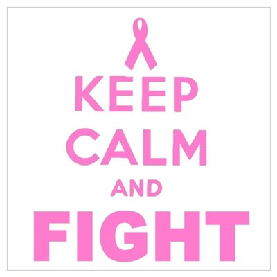 BREAST CANCER (KEEP CALM AND CARRY ON) Wall Art Poster
