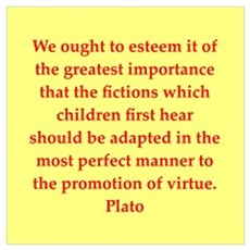 Wisdom of Plato Wall Art Poster