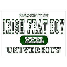 Irish Frat Boy University Wall Art Poster