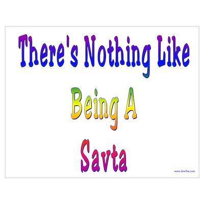 Being a Savta Wall Art Poster