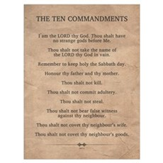 The Ten Commandments Wall Art Framed Print