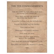 The Ten Commandments Wall Art Poster