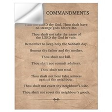 The Ten Commandments Wall Art Wall Decal