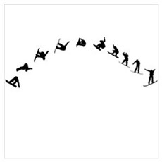 Snowboarding Flip Wall Art Poster