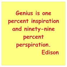 Thomas Edison quotes Wall Art Poster