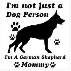 German shepherd mommy Wall Art Poster
