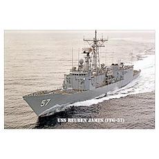 USS REUBEN JAMES Wall Art Poster
