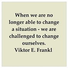 Viktor Frankl quote Wall Art Framed Print