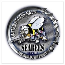 USN Seabees We Build We Fight Wall Art Canvas Art
