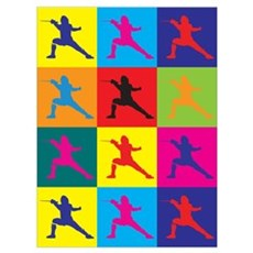 Fencing Pop Art Wall Art Poster