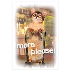 Kitten in Beer Glass Wall Art Poster
