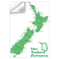 New Zealand Map Wall Art Wall Decal