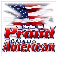 Muslim and Proud to be an American Wall Art Canvas Art