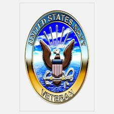 USN Navy Veteran Eagle Wall Art