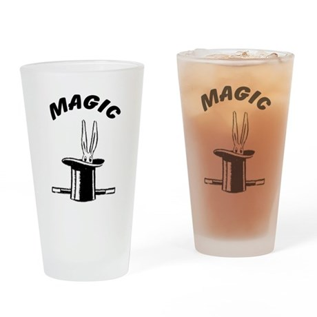 Magicians Hat and Rabbit Drinking Glass