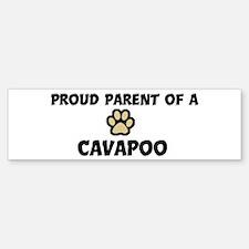 Proud Parent: Cavapoo Bumper Bumper Bumper Sticker