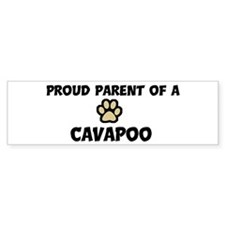 Proud Parent: Cavapoo Bumper Car Sticker
