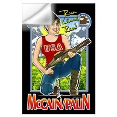 Run Liberal Run - McCain Palin Wall Art Wall Decal
