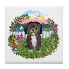 Garden-ShihTzu 36 Tile Coaster