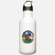 StarWish-Blk-ShihTzu Water Bottle