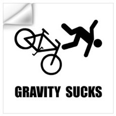Gravity Sucks Bike Wall Art Wall Decal