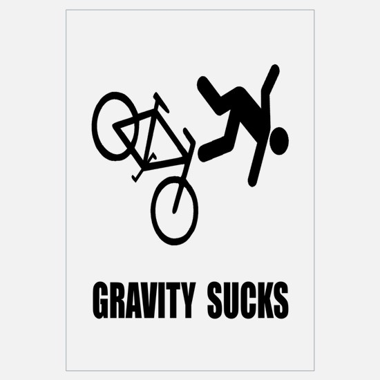 Gravity Sucks Bike Wall Art