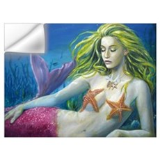 Maroon Mermaid Wall Art Wall Decal