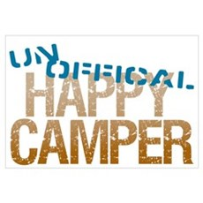 Unofficial Happy Camper Wall Art Canvas Art