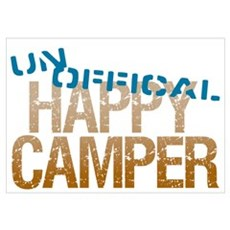 Unofficial Happy Camper Wall Art Poster