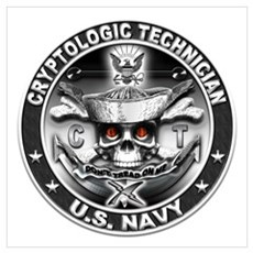 USN Cryptologic Technician CT Wall Art Poster