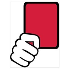 Referee red card Wall Art Poster