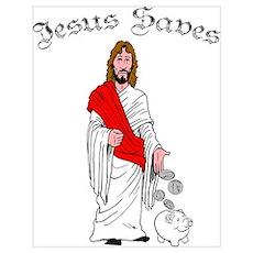 Jesus Saves Wall Art Poster