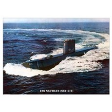 USS NAUTILUS Wall Art Poster