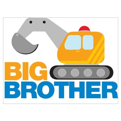 Digger Big Brother Wall Art Framed Print