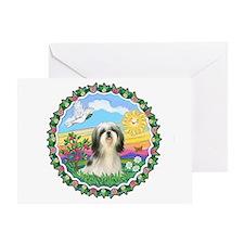 Happy Sun - Shih Tzu #3 Greeting Card