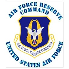 Air Force Reserve Cmd with Text Wall Art Poster