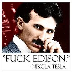 Nikola Tesla Wall Art Poster