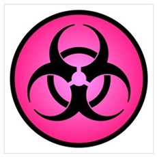 Rose Biohazard Symbol Wall Art Poster