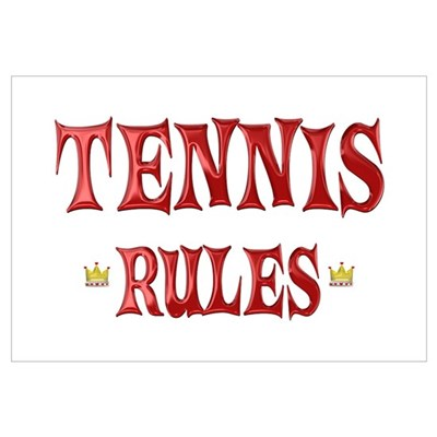 Tennis Rules Wall Art Poster