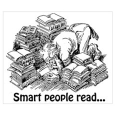 Smart People Read Wall Art Poster
