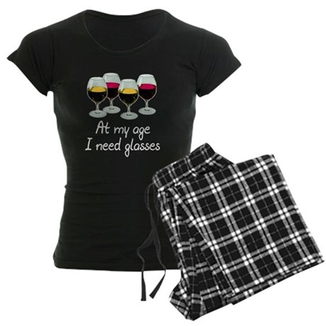 At my age I need glasses Women's Dark Pajamas