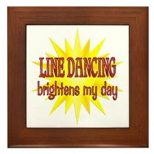 Line Dancing Brightens Framed Tile