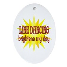 Line Dancing Brightens Ornament (Oval)