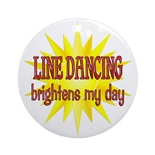 Line Dancing Brightens Ornament (Round)