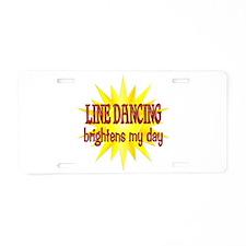 Line Dancing Brightens Aluminum License Plate