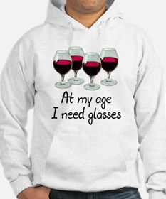 At my age I need glasses Hoodie