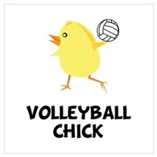 Volleyball Chick Wall Art Framed Print