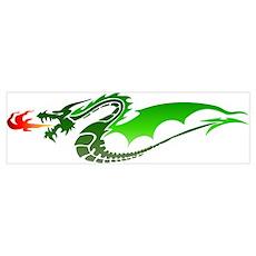 Green Dragon Wall Art Poster