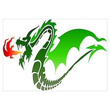 Green Dragon Wall Art